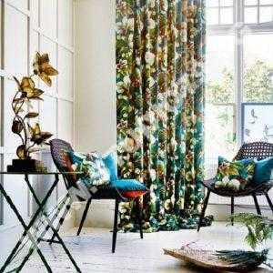 Плат за завеси, шалтета и декорации с десен орхидеи Екзотика